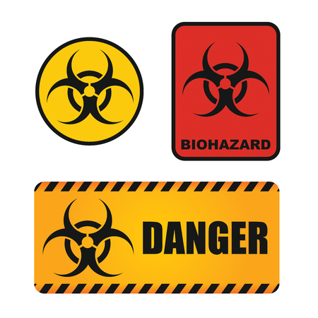 health threat: Biological hazards sign, abstract illustration for your Quickly recognizable table