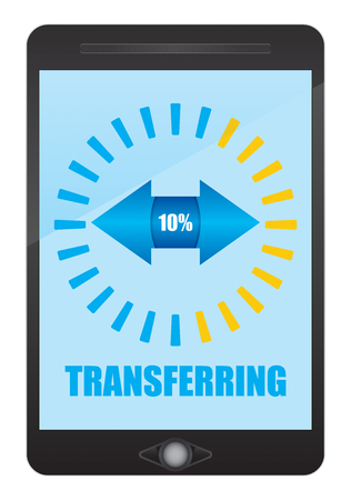 touch base: Digital data transfer sign. Abstract illustration.
