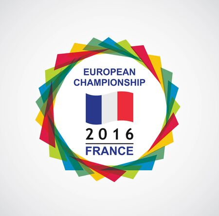 championship: 2016 European Championship - France. Abstract illustration