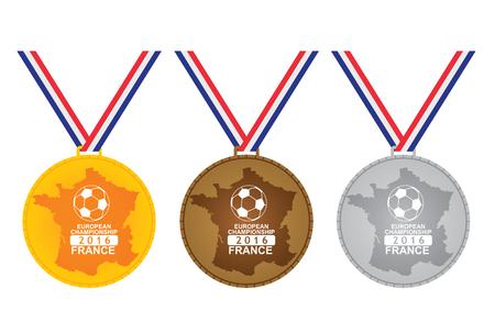 european championship: Medal for winner -  European Championship. France 2016