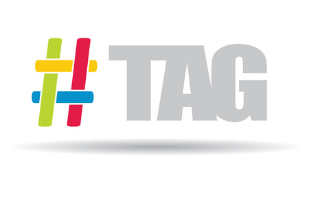 denote: Hashtag, communication sign. Abstract illustration for your design. Illustration