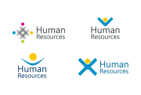 assist: Human resource concept - abstract sign set Illustration