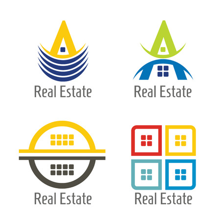 Real Estate icon set, abstract illustration for your presentation