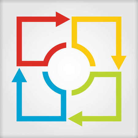 Business concept - flow chart with arrows