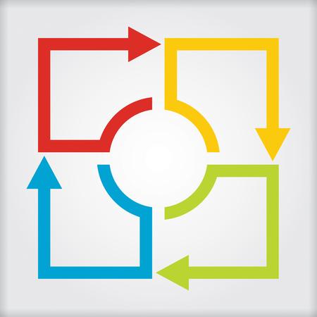 Business concept - stroomdiagram met pijlen