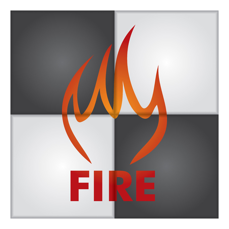 explosive gas: Fire sign on abstract background. Illustration for your presentation template.