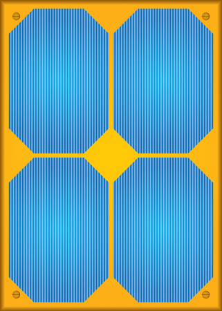 alternate: Photovoltaic or Solar panel. Abstract illustration.