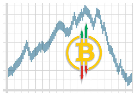 Stock exchange fluctuations of the CryptoCurrency Illustration