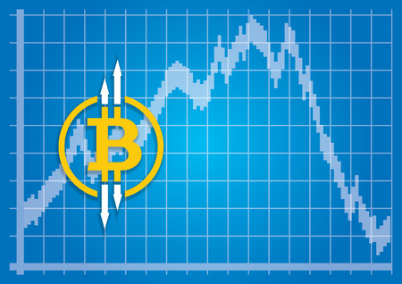 Stock exchange fluctuations of the CryptoCurrency Ilustração