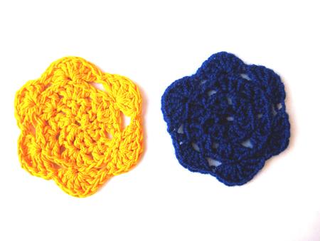 crocheted: pattern crocheted Stock Photo
