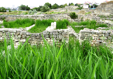 foundation cracks: stone ruins of the ancient city