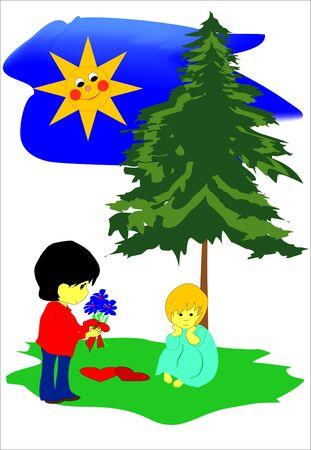 lovers Ilustracja