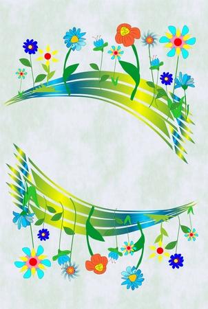 macro flowers: spring Illustration