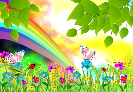 childish: spring Illustration