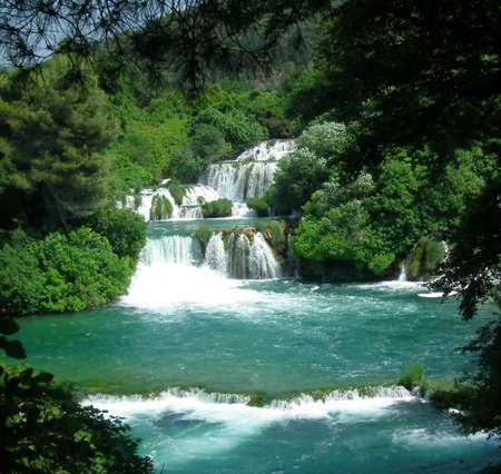 Krka waterfalls.