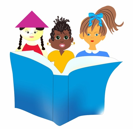 kids reading book: education