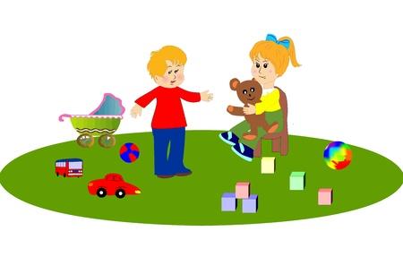 rearrange: Kindergarten Illustration