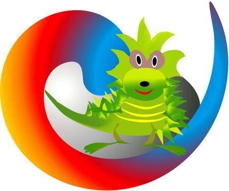 The dragon Illustration