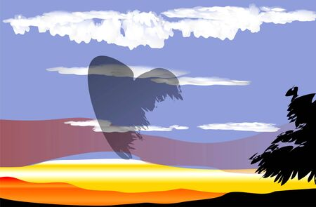 heart in the sky Stock Vector - 13507322
