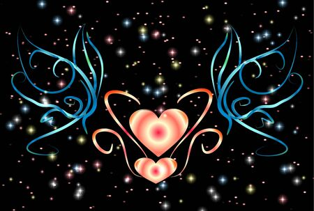 Heart and butterfly Stock Vector - 13507328