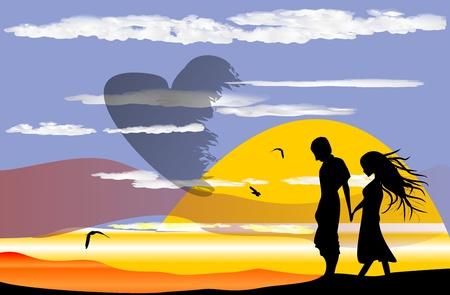 mujer enamorada: amor Vectores