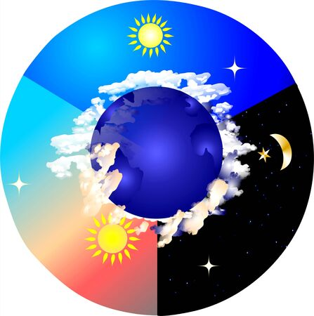 time of day Stock Vector - 13621124