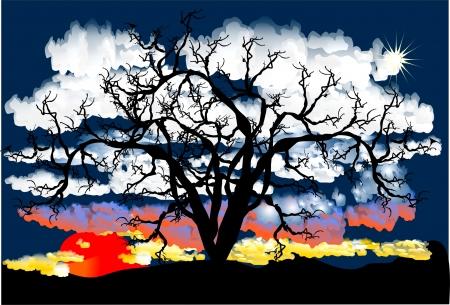 planeta tierra feliz: árbol Vectores