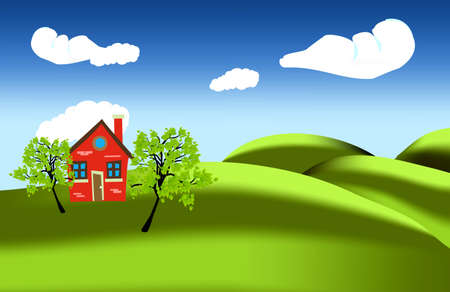 lonely house Stock Vector - 13820465