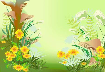champignon magique: for�t myst�rieuse Illustration