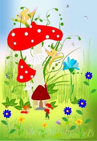 mushroom house: dwarfs
