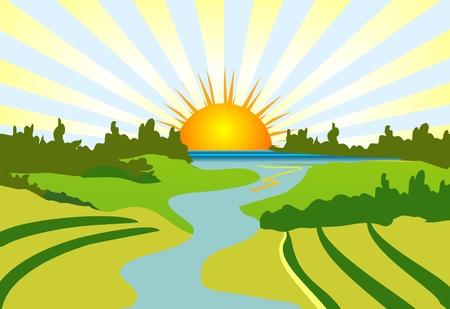 rural landscape Stock Vector - 15425673