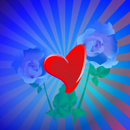 Decoration of the heart Vector