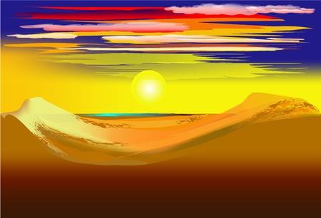 sand dune: Desert Illustration
