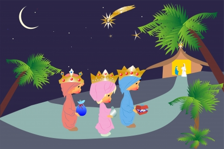 Three kings Stock Vector - 16167549