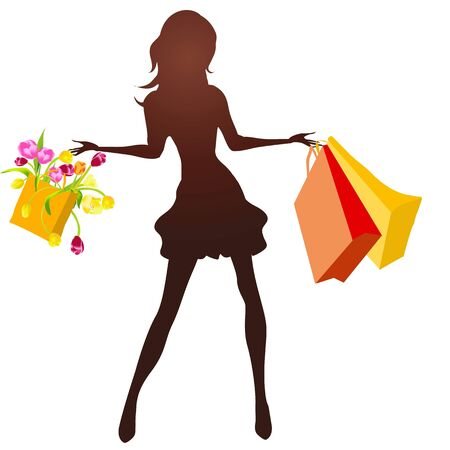 woman on the shopping Stock Photo - 16263366