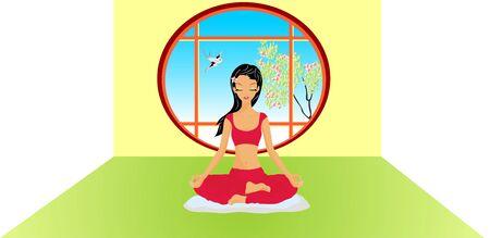 yoga pillows: Yoga Stock Photo
