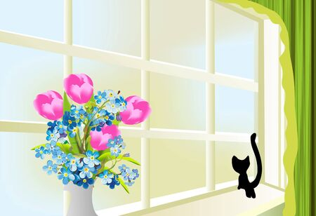 Spring on the window
