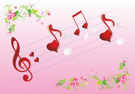 composition for Valentine s Day Vector