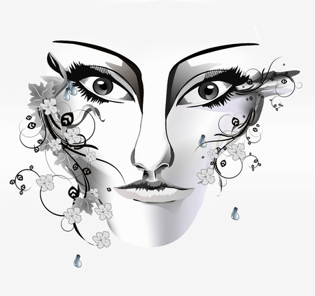 woman s face Stock Vector - 17399864