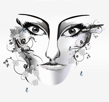 woman s face Stock Vector - 17399864