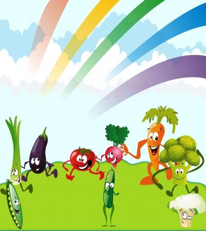 Theme vegetables Vector