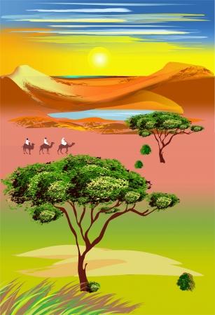 on the savannah Векторная Иллюстрация
