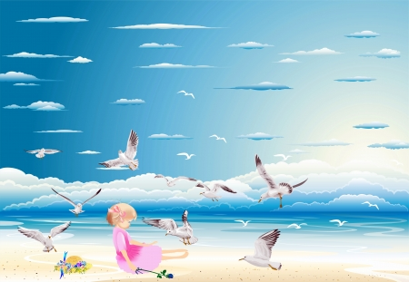 by the sea Stock Vector - 17980916