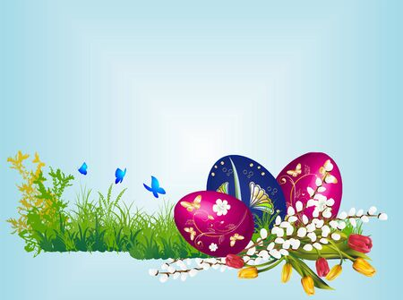 Easter composition Stock Vector - 18376906