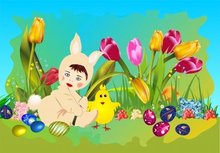 Easter bunny Stock Vector - 18463698