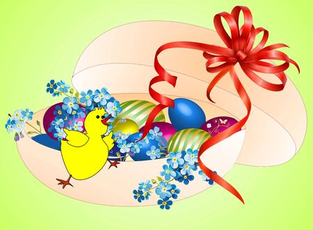 Easter composition Stock Vector - 18654474