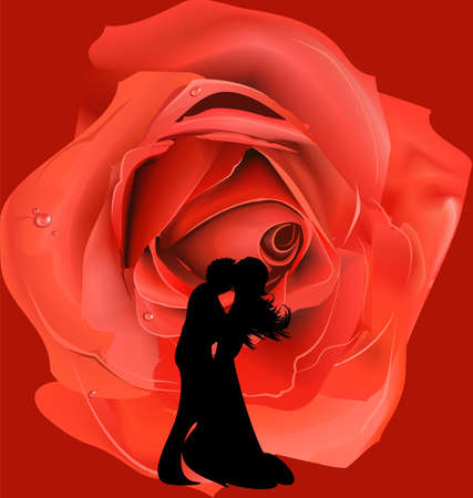 dance with a rose Vector