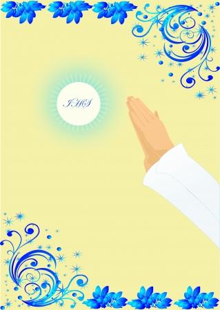 premi�re communion: premi�re communion Illustration