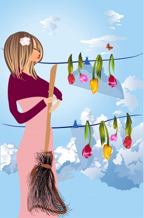spring cleaning: spring cleaning Illustration