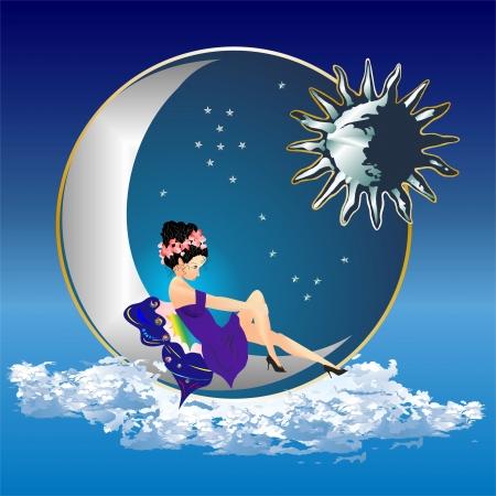 ange et la lune